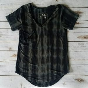 Acid Washed Short Sleeve Pocket Tee